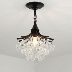 Micro Chandeliers Crystal Lighting Gold Black Brilliance Room LED Light Fixtures $190.79