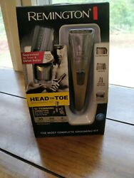 Remington Trimmer Shaver Clippers HEAD To TOE Grooming Kit W Charging Stand CR $37.70
