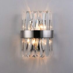 Chrome Crystals Wall Lights Micro LED Fixtures Stainless Cozy Lamps High Quality