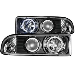 Anzo USA 111015 Projector Headlight Set wHalo Fits 98-04 S10 Blazer S10 Pickup
