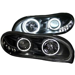 Anzo USA 121160 Projector Headlight Set wHalo Fits 98-02 Camaro