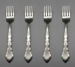 Oneida USA Stainless Flatware Satinique Salad Forks Set of Four * PW $14.99