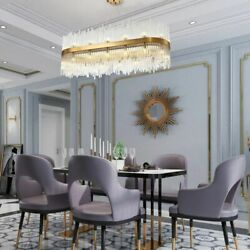 Modern Crystal Chandelier Lights Luxury Clear Rod Glasses With Plating Gold Lamp $1187.21