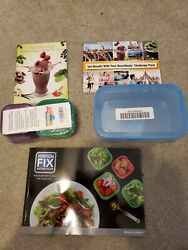 7 container 14 Kit Diet Portion Fix Weight Loss Guide Food Plan Books $28.00