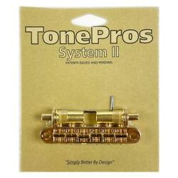 TonePros T3BT-G PreNotched Metric TuneOMatic Bridge Gold $52.95