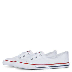 Converse Chuck Taylor All Star Womens Ballet Lace Slip On White Shoes 549397C $49.99