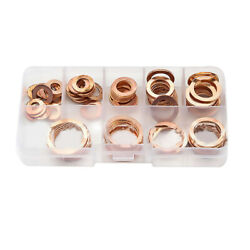 80pcs Solid Copper Washer Professional with Case Assortment Kit Sturdy Sump Plug $10.80