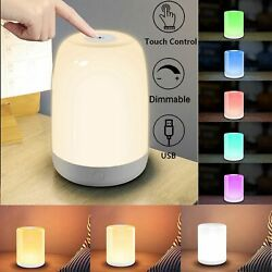 Rechargeable Dimmable LED Night Light Touch Sensor Bedside Table Lamp for Kids $14.99