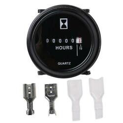 DC 10~80 V High Accuracy Boat Car Truck Engine Round Hour Meter Gauge $10.57