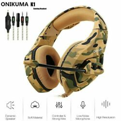 ONIKUMA 3.5mm Stereo Bass Surround Gaming Headset for PS4 Xbox One PC with Mic $25.99