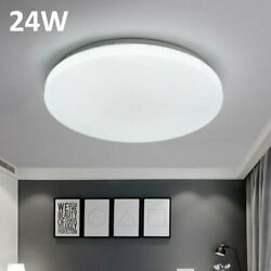 24W Round Bright LED Ceiling Down Light Panel Wall Bathroom Kitchen Lamp Cool US
