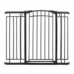 Evenflo 36quot; Adjustable Multi Use Metal Décor Baby Pet Safety Gate Black Used $36.49