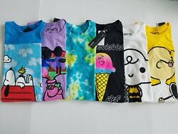 Peanuts Mens Snoopy Charlie AVAF Short Sleeve Crew Neck Graphic T Shirt $22.77