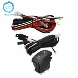 Universal Red LED Fog Light Wiring Harness Fuse Laser Rocker Switch Relay 12V US $17.68