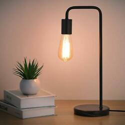 Industrial Desk Lamps Classic Modern Black Bedside Table Lamp Marble Base Frame $24.99