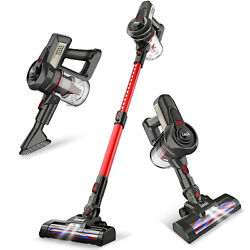 INSE Cordless Vacuum Cleaner 2 in 1 Stick Upright Compact Handheld Bagless Red $59.99