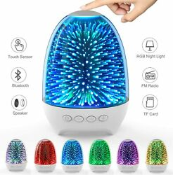 Touch Lamp Bedside Lamp with Bluetooth Speaker Rechargeable LED Night Lights $35.88