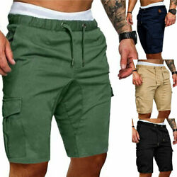 Men's Summer Shorts Sports Work Casual Army Combat Cargo Short Pants Trousers $14.59