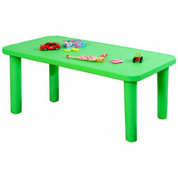 Kids Portable Plastic Table Learn and Play Activity School Home Furniture Green $74.99
