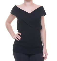 INC International Concepts Women's Deep Black Top Size S