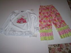 Shrimp & Grits Kids Boutique Girls 2 Piece Outfit Size S 4T-5T New with Tag $28.00
