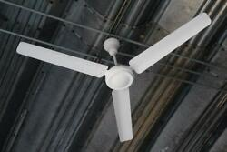 ABC Airmaster Mark VI Industrial Commercial Ceiling Fan White 3 Blade 56