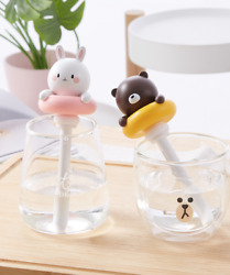 LOFTER Mini Cute Pets Portable Humidifier Purifier Quiet USB Charge Office Home $16.98