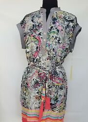 Uncle FrankIvy Jane Casual Shirt-dress with Combo print details-  Size Small  $52.50