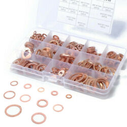 80280 PCS Solid Copper Crush Washers Sump Sealing Plug Assorted Washer Kit Set $11.42