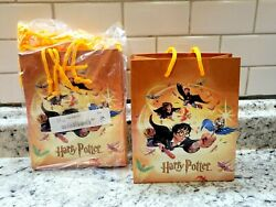 NEW Vintage 2000 Harry Potter Gift Bag Bags Small Orange Bags Lot of 8 $19.99