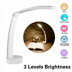 LED Desk Table Touch Lamp USB Rechargeable Adjustable Intensity Reading Light $8.59