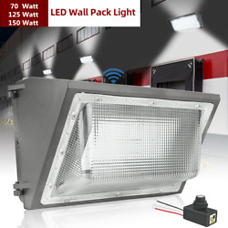 70100125150 Watt LED Wall Pack Fixture Commercial Industrial Security Light $41.69