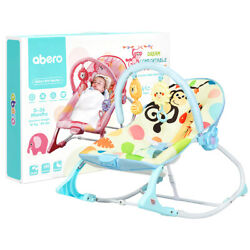 Babyjoy Baby Bouncer amp; Rocker Infant Toddler Adjustable w Vibration Music Blue $39.99