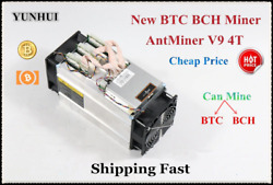 Newest AntMiner V9 4THS Bitcoin BCH BTC BCC Miner Without Power Supply Better T $128.99