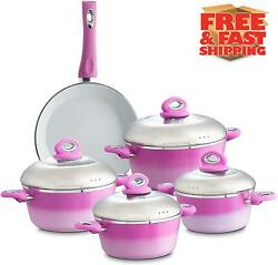 Chef's Star 9 Piece Professional Grade Aluminum Non-stick Pots & Pans Set  $69.95