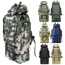 100L Outdoor Camping Bag Military Backpack Tactical Hiking Trekking Rucksack $25.59