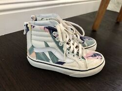 Vans Girls High Top Palm Leaves Shoes Size 10.5 $15.00