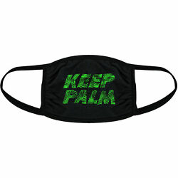 Keep Palm Face Mask Funny Tropical Tree Vacation Beach Nose And Mouth Covering $13.99