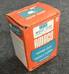 Vintage Amaco Moist Clay Box Only 1950-60s Modeling She Shed Man Cave Art L