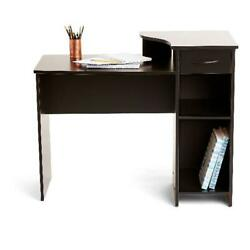 Student Desk Table Project Dorm Computer Laptop Home Office Shelving Wood Drawer $99.91