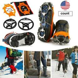 Shoe Anti Slip Spikes Ice Snow Grips Boot Crampons Non Climbing Cleats Gripper $3.67