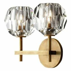 Crystal Wall Mounted Lamp Indoor LED Home Lights Gold Plated For Bedroom Balcony
