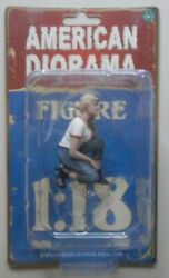 Car Girls in Tees Michelle American Diorama 1:18 Scale Lady 2.75quot; $7.99