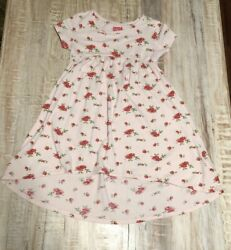 Harper Canyon Dress Floral Roses High Low Short Sleeve Size 6 $12.00