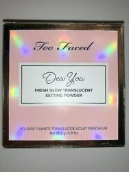 Too Faced Dew You Fresh Glow Translucent Setting Powder Radiant Nude NIB $18.89