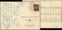 SL253. SLOVAKIA STATE COMMERCIAL POST CARD 1942