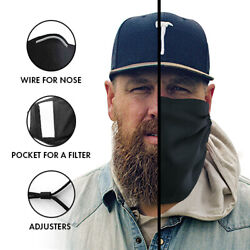 Face and Beard Protection Cover Mask with Pocket for a Filter for Bearded Men $15.85