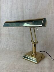 Large Brass Bankers Desk Lamp * Double Adjustable Arm*  Piano Lamp $65.00
