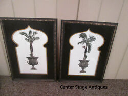 46515 Pair CENTURY Palm Tree Prints in Nice Picture frame $165.00