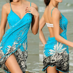Women Summer Sexy Bikini Bathing Cover Up Swimwear Beach Dress Wrap Pareo Hot $18.78